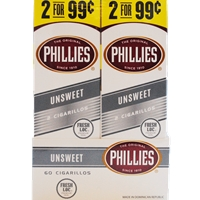 PHILLIES CIG 2/.99 UNSWEET