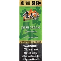 4K'S CIG 4/.99 IRISH CREAM