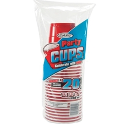 CUPS STRNGHLDR 20CT PLAST RED