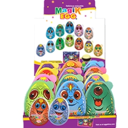 GIANT MAGIK EGG CHOCOLATE 2 TOYS