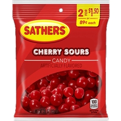 SATHER CHERRY SOUR 2/$1.50