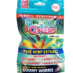 HEMP KRAVE GUMMY WORMS 500G