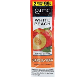 GAME FF CIG 2/.99 WHITE PEACH