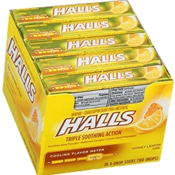 HALLS HONEY LEMON